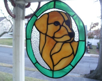 Stained Glass Labrador Dog Suncatcher