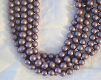 25 ~ Iridescent Red 8MM 5810 Swarovski Crystal Beads Pearls