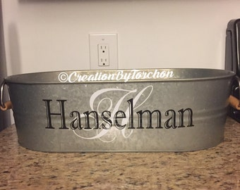 Galvanized Party Tub/Personalized