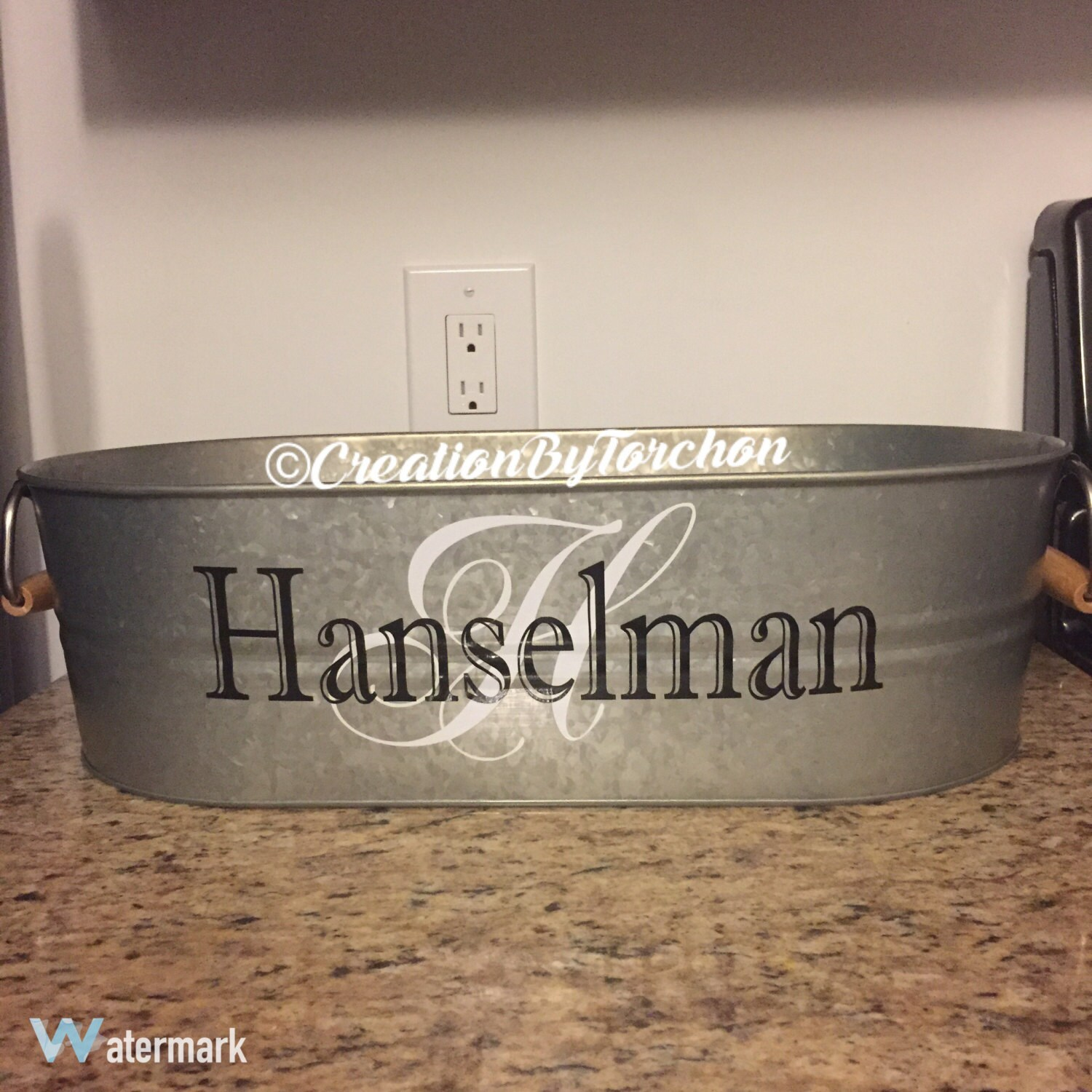 galvanized party tub  personalized