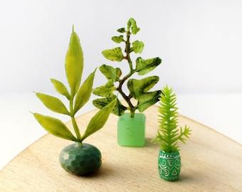Set of 3 Miniature Vases - Glorious Greens