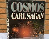 Cosmos, by Carl Sagan (1980) 1st Edition w/ DJ Vintage Science Physics Book