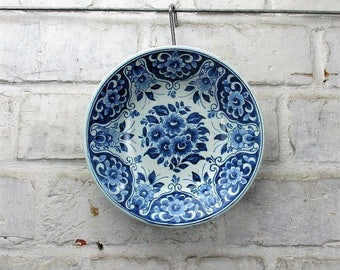 Delft Holland Delft Blue White Small Ornate Plate Dutch