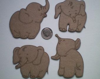 Elephant - Chipboard Embellishement Set