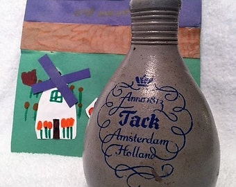 Man Cave - Vintage Jack Crock Whiskey Jug from Amsterdam