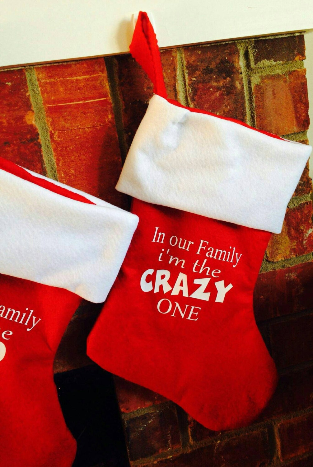 Family Christmas Stockings, Red Christmas Stockings, Funny ...