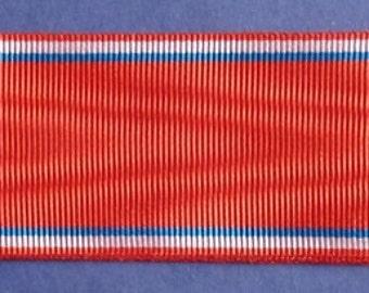 French Medal Ribbon For The Battle Verdun Medal