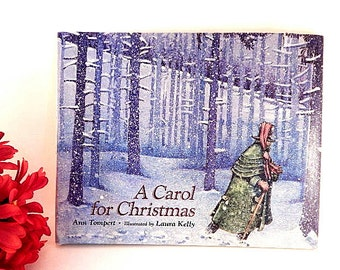 A Carol for Christmas by Ann Tompert Children's Story Book Hardcover Color Illustrated Vintage 1994 Gift Book