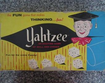 Vintage 1950s Yahtzee Game, Board Games, Score Sheets, Collectors Item