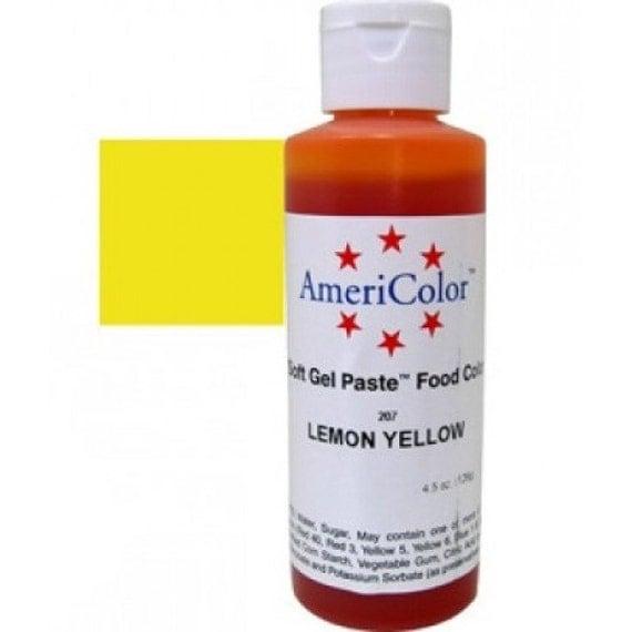 Lemon Yellow Americolor Food Coloring Gel Paste/ Yellow Food ...