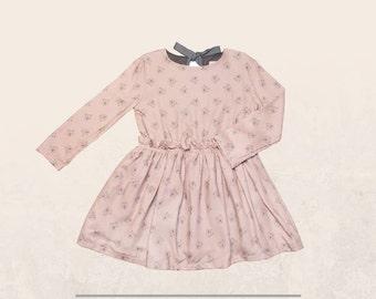 Teddy Bear Dress, Autumn / Winter Dress, Backless Dress, Girl Dress, Size 3T-pink, Size 10 & 12 years -color green