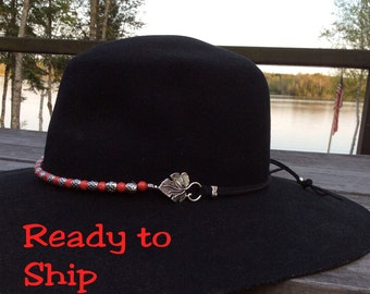 Cowboy Hats. Beaded hatband. Cowgirl hat. Cowboy hat. Western wear. Cowgirl accessories. Hand beaded hatband. Western hat band. Vegan suede.