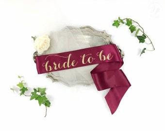 Bride to Be Sash - Bachelorette Sash - Bridal Shower Bachelorette Party Accessory - Satin Bride Sash - Bride Gift - Bride Sash