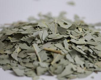 Potent Dried Eucalyptus Leaves, Eucalyptus globulus, Incense, Smudging, Native Herbs, Eucalyptus Tea, Eucalyptus Leaf, Cut Eucalyptus Leaf
