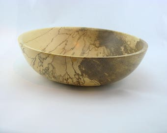 Fruit bowl or service made from Spalted Maple apprx. 11 in. x 3 1/4 in. item number: 438