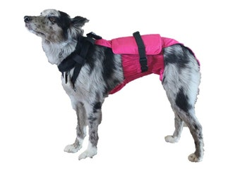 Large Dog Diaper Wrap with neck and extender package 40 pounds to 70 pounds