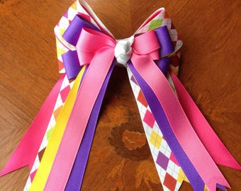 SALE - ONE PAIR Only - Equestrian Hair Bow/Ready2Mail