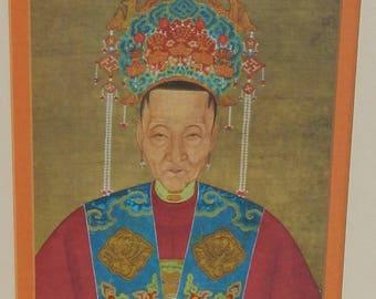 Beautiful Vintage Silk Asian Art!