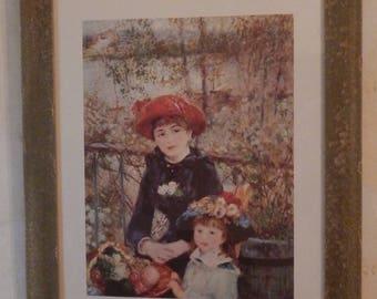 Lovely Large Framed Renoir Print!