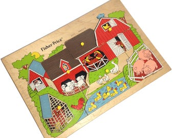 "Wood puzzle ""The Farm"" - Fisher Price"
