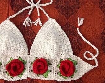 Crochet Rose Top