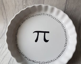 Pi (pie) dish Geek nerd baking gift