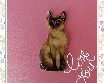 Siamese cat pendant
