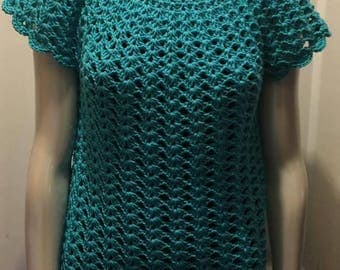 crochet summer tunic size small