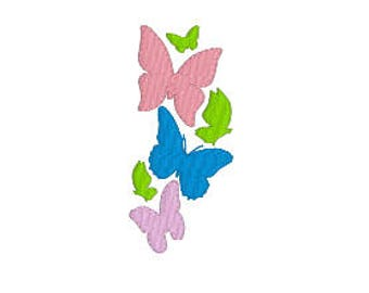 BUY 2 GET 1 FREE - Butterfly Flourish Border Machine Embroidery Design in 4 Sizes - Great Accent Spray