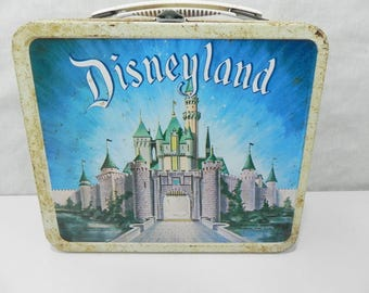 Vintage 1957 Disneyland Castle Metal Lunchbox Made by Aladdin Industries