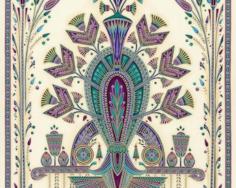 Valley of the Kings 2 Panel Jewell by Robert Kaufman Quilting Fabric