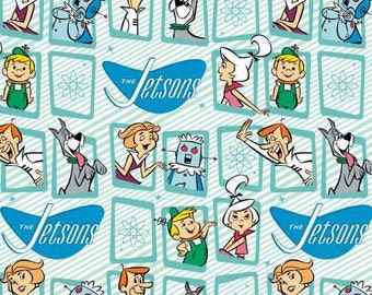 Frames on Blue, The Jetsons by Camelot Fabric