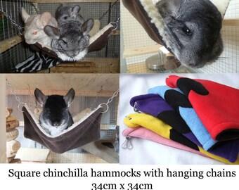 chinchilla pet hammock rat hammock degus hammock pet bed hammock with hanging chains large corner hammock for chinchilla degus rats small guniea  rh   etsy