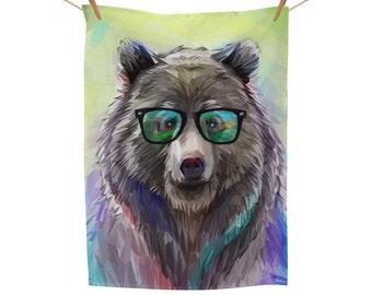 Bear Vision Tea Towel