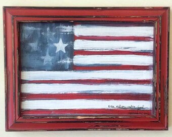 etsy your place to buy and sell all things handmade With what kind of paint to use on kitchen cabinets for american flag canvas wall art