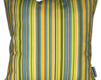 Linen Cushion Cover - 45cm stripe in raw linen