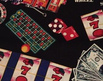 "Casino New Cotton Fabric: 1 Yd. x 44"""