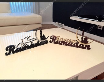 Ramadan Kareem wooden 3D table decor