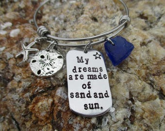 My dreams are made of sand and sun-Bracelet