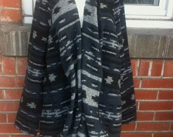 light wool jacket 1xl women aztec print