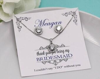 Bridesmaid Jewelry, Bridesmaid Jewelry Set 4 5 6 7 8, Bridesmaid Jewelry Gift, personalized bridesmaid jewelry set 510930378