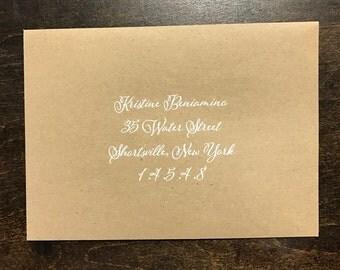 Envelope Addressing - White Ink