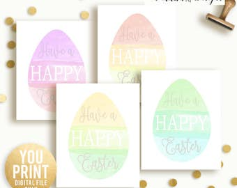 SALE Easter Wall Art, Happy easter Art, Easter Decor, Happy Easter printable, Easter decor, Easter Quote, YOU PRINT, pastel easter