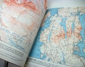 100 Topographic Maps Cartography Book - Vintage 70s