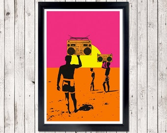 Summer Madness Poster - boombox
