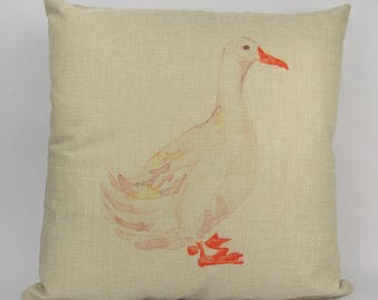 Watercolor Duck - Pillow Cover