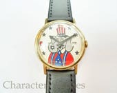 Vintage Timex Marlin 1970s Republican National Convention Elephant Mens Manual Wind Watch