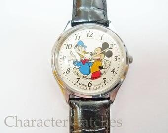 Lorus Seiko Donald & Mickey 1990's Mens Quartz Watch