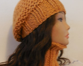 Wool beret and full neck warmer