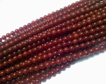 Beautiful look Red Agate bead 8 mm 16'' 1 string gemstone